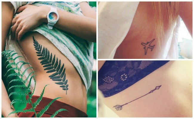 Tatuajes en las costillas de números romanos