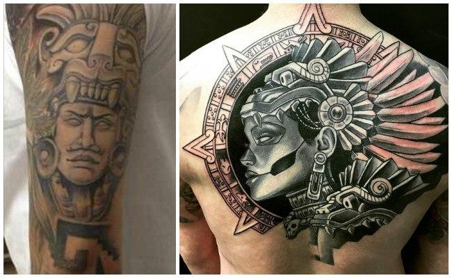 Tatuajes de cráneos aztecas