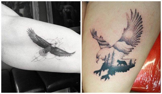 Tatuajes de águilas calvas