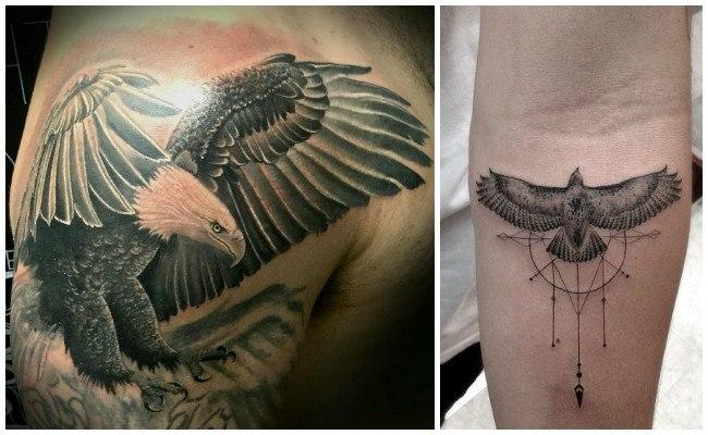 Tatuajes de águilas en la espalda