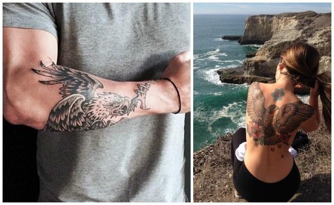 Tatuajes de águilas en mujeres