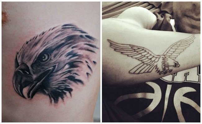 Tatuajes de águilas femeninos