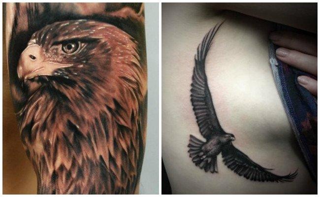 Tatuajes de águilas para mujer