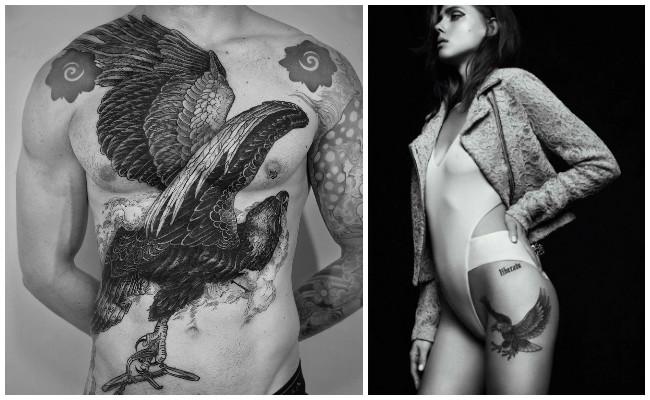 Tatuajes de águilas volando