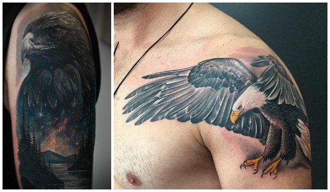 Tatuajes de águilas y halcones