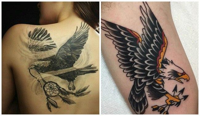 Tatuajes de águilas y serpientes