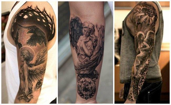 Tatuajes de ángeles con frases
