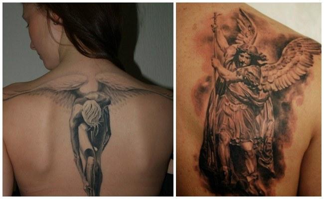 Tatuajes de ángeles de la guarda