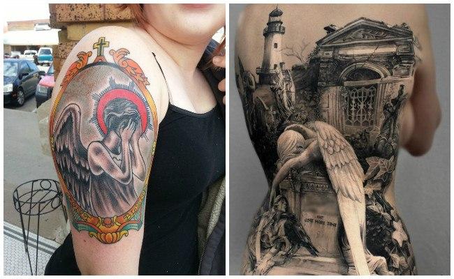 Tatuajes de ángeles guardianes