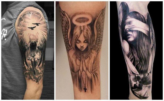 Tatuajes de ángeles guerreros