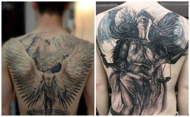 Tatuajes de ángeles en el hombro