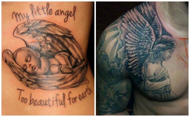 Tatuajes de ángeles de la muerte