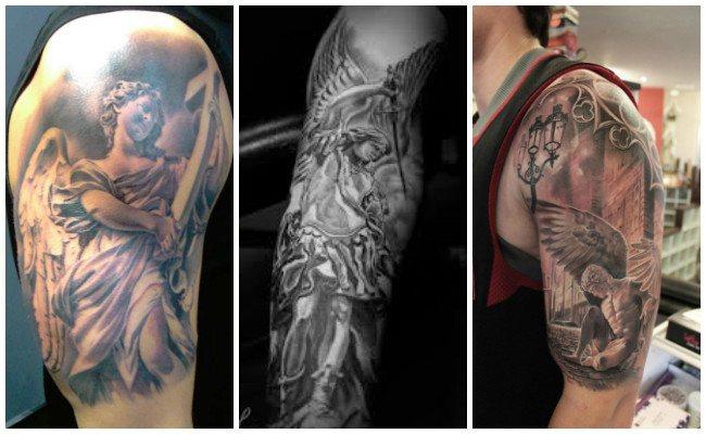 Tatuajes de ángeles de mujeres