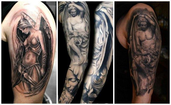 Tatuajes de ángeles con nombres