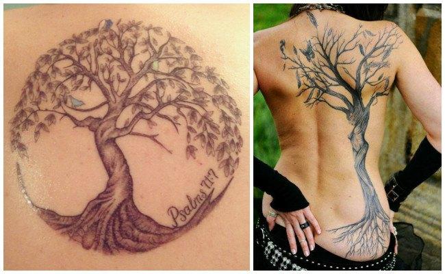 Tatuajes de a´rbol de la vida para mujeres