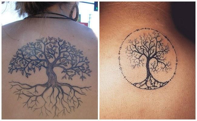 Tatuajes de árbol de la vida con nombres