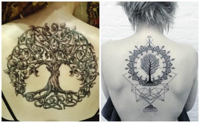 Tatuajes de rbol de la vida y su significado dise os y for Tipos de arboles y su significado