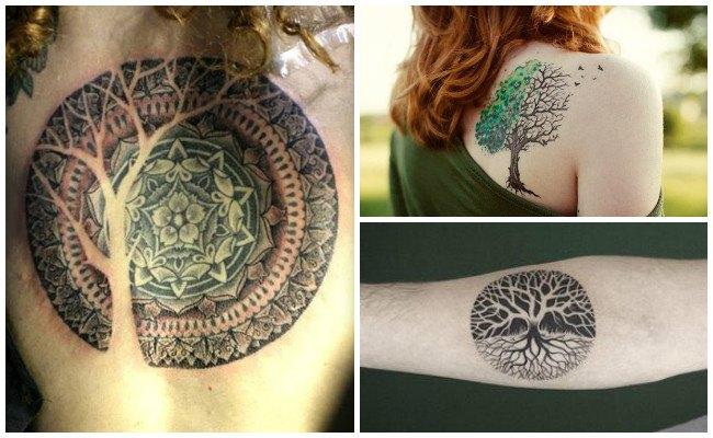 Tatuajes de árbol de la vida en la pierna