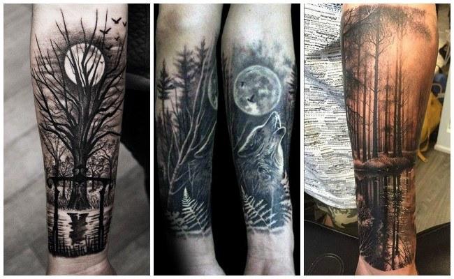 Tatuajes de árboles en hombres