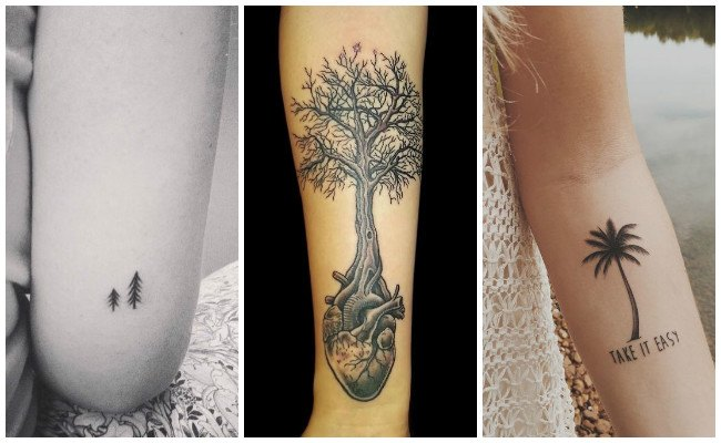 Tatuajes de árboles en mujeres