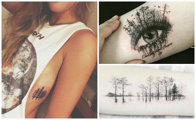 Tatuajes de árboles secos