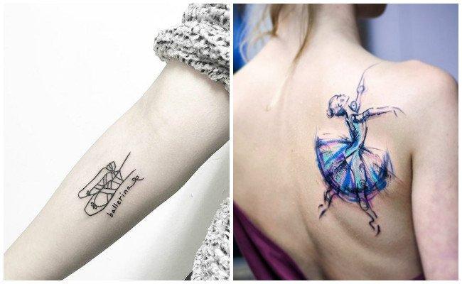 Tatuajes de bailarinas en el ballet