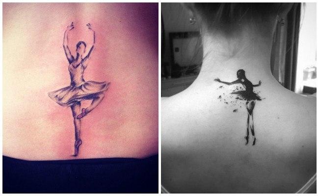Tatuajes de bailarinas en el brazo