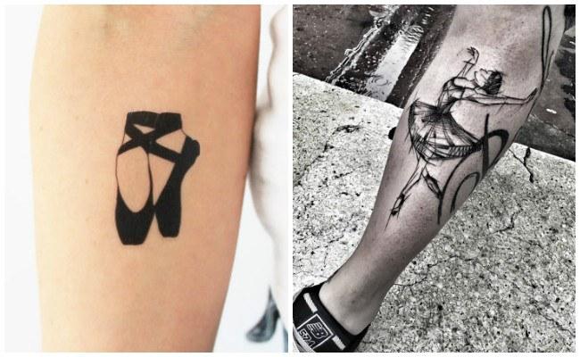 Tatuajes de bailarinas en las costillas