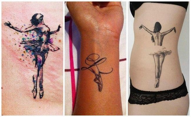 Tatuajes de bailarinas en el hombro