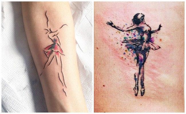 Tatuajes de bailarinas de jazz