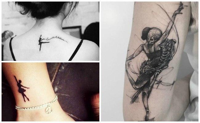 Tatuajes de bailarinas pequeños