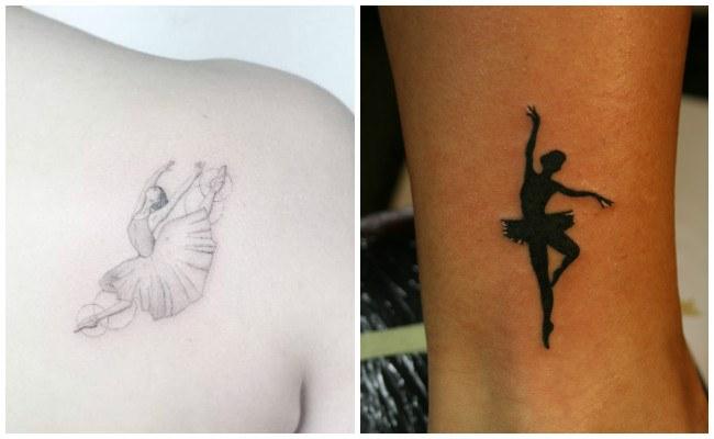 Tatuajes de bailarinas en la pierna