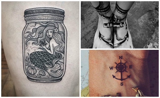 Tatuajes de barcos en el brazo