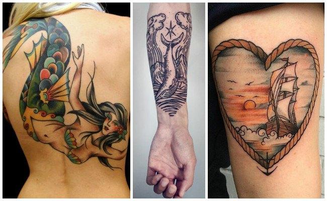 Tatuajes de barcos old school