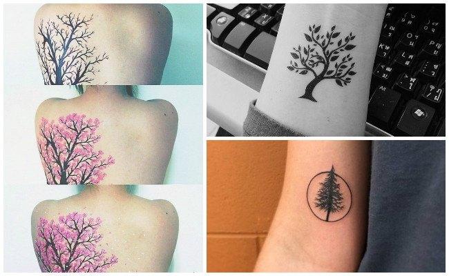 Tatuajes de bosques en el brazo
