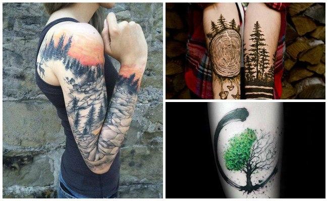 Tatuajes de bosques encantados
