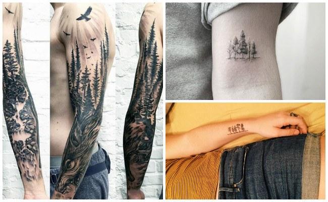 Tatuajes de bosques oscuros