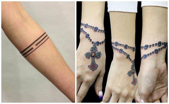 Tatuajes de brazaletes en el antebrazo