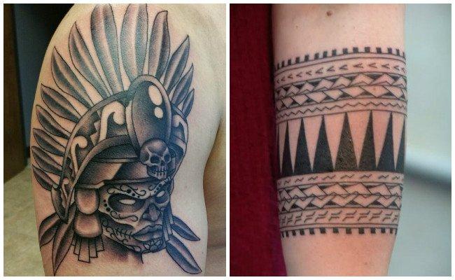 Tatuajes de brazaletes aztecas