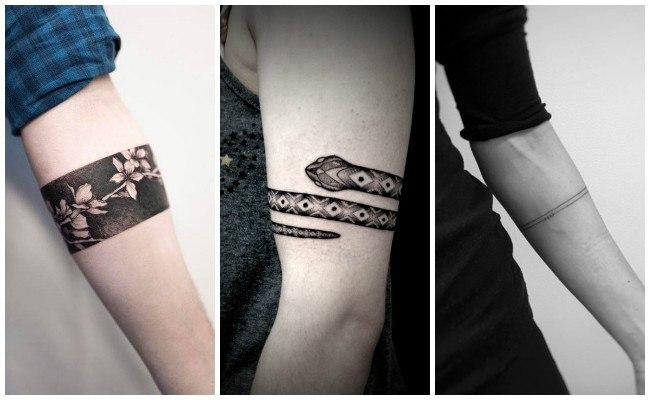 Tatuajes de brazaletes en el brazo