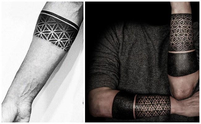 Tatuajes de brazaletes en hombres