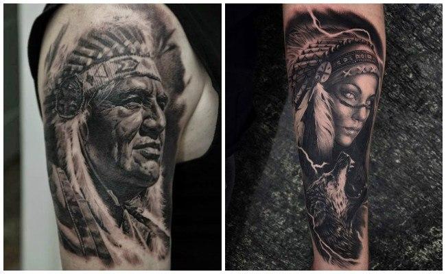 Tatuajes de brazaletes indios