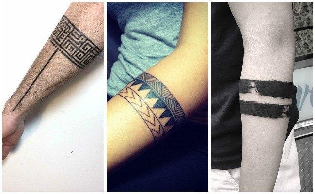 Tatuajes de brazaletes maories