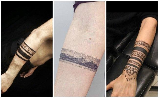 Tatuajes de brazaletes mayas