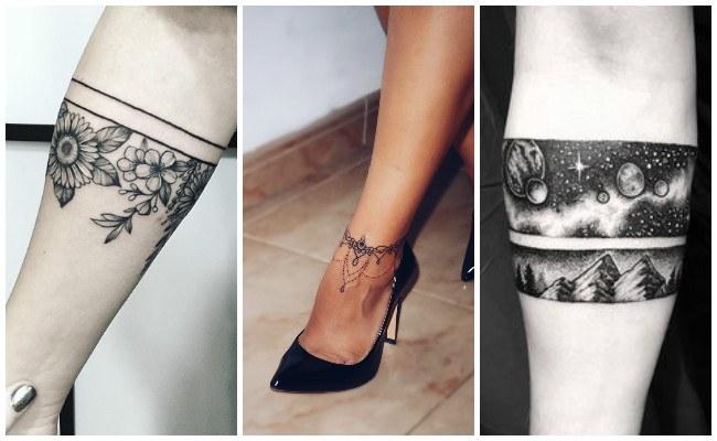 Tatuajes de brazaletes en la muñeca