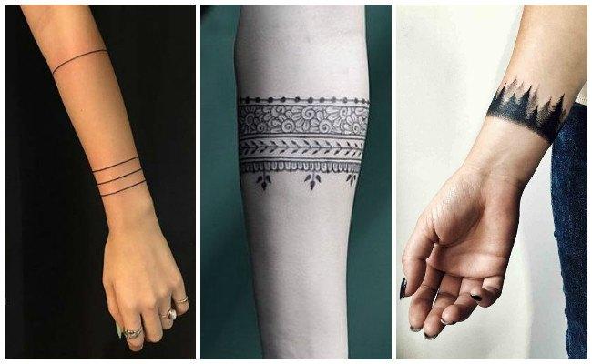 Tatuajes de brazaletes con nombres