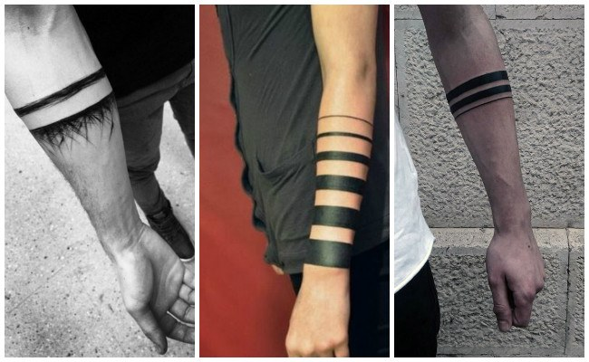 Tatuajes de brazaletes en la pierna