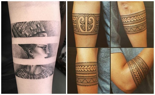 Tatuajes de brazaletes tribales