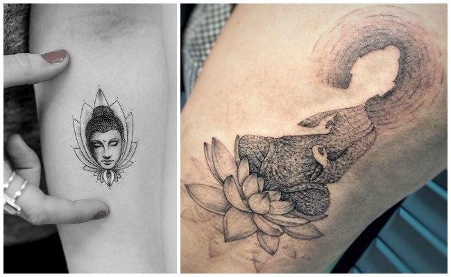 Tatuajes de buda en el brazo