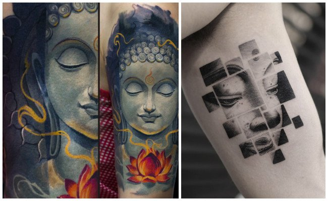 Tatuajes de buda con la flor de loto